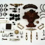 petites pièces détachées : poignées, décos, roulettes, etc.