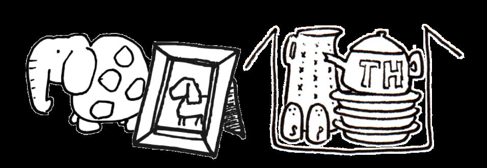 vaisselle/déco ; cadres
